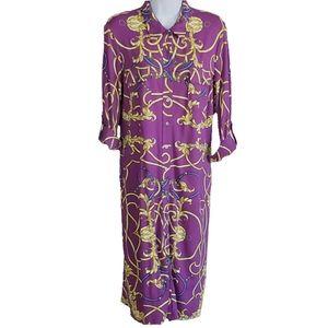J. McLaughlin Women's Dress Purple Med Roll Tab